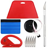 Wallpaper Smoothing Tool Kit Include Black Tape Measure,red Squeegee,Medium-Hardness Squeegee,snitty Vinyl...