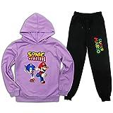 Ma-Rio - Conjunto de chándal de 2 piezas con capucha y pantalones deportivos para niños y niñas