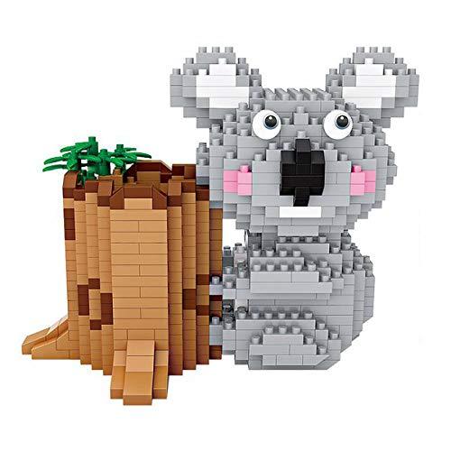 Aegilmctoys Figur Gebaut Mit Nano-Bausteine, Zeichentrickfigur Mini Bausteine Spielzeug Bricks Haustier Bauen Bauklötze Einem 3D Puzzle Modellbauset,Koala