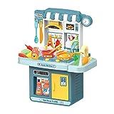 TOYANDONA 1 Set Kinderküche Spielset Spielzeug Küchenzubehör Set Plastikspielküche mit Echten Klängen Und Licht ohne Batterie