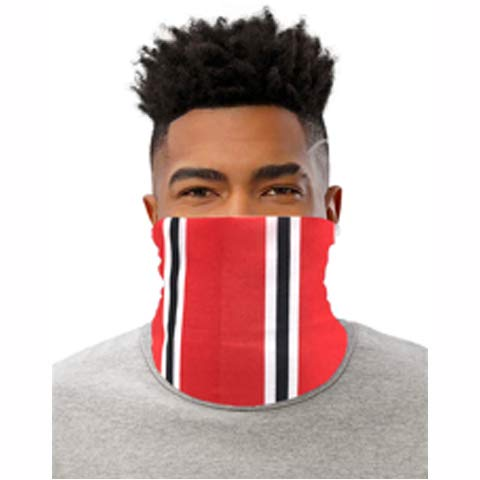 PARTISAN United Inspired Red Black & White Snood Face Mask Neck Head Scarf