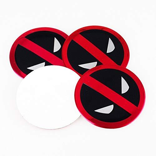 Maksim-003 4 Etiquetas engomadas de Dibujos Animados empotrados Logotipo Personalizado Cubierta de la Rueda de Coche estándar etiquetado