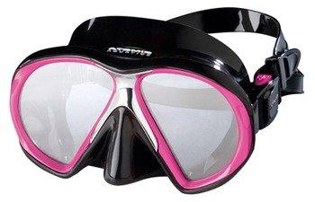 ATOMIC - Máscara de buceo SubFrame, color negro y rosa.