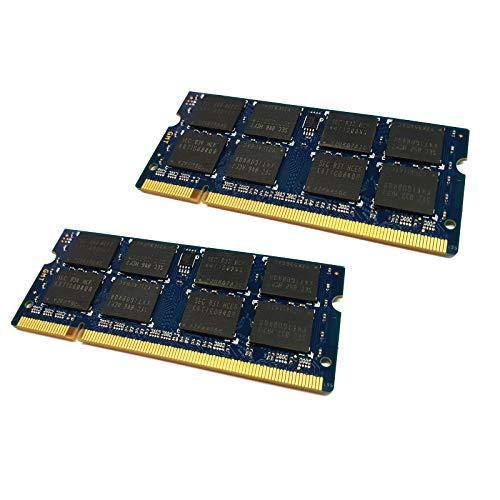dekoelektropunktde 2X 2GB (4GB KIT) DDR2 Ram Speicher kompatibel für Dell Latitude E5400 E5500 E6400 E6500 | Alternative Komponente, Arbeitsspeicher