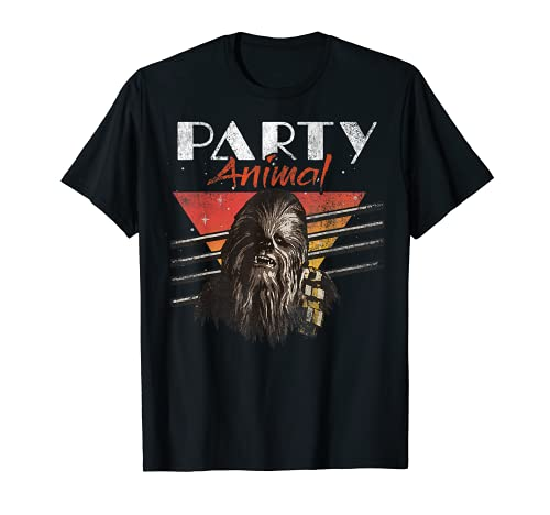 Star Wars Chewbacca Party Animal Vintage Graphic T-Shirt