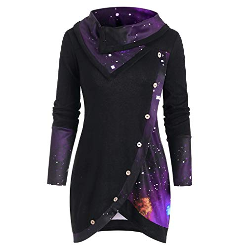 Auifor geruit pullover top, dames V-hals geruit blouse 3/4 mouwen korte mouwen ritssluiting tuniek tops longshirt hemd T-shirt