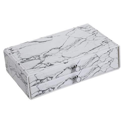 FLAMEER Schublade Schmuck Aufbewahrungsbox Desktop Kosmetik Vitrinen Home Supplies