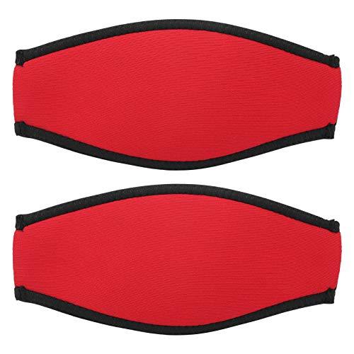 minifinker Cómodo Buceo Fácil y Cómodo Cubierta de Espejo Buceo Slap Strap Material de Neopreno, para Nadar, bañarse, Surfear(Red)