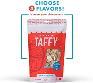 Taffy Shop Create a 1 pound bag of Assorted Saltwater Taffy--Choose up to 3 Flavors of Gourmet Salt Water Taffy's (World's Best Taffy