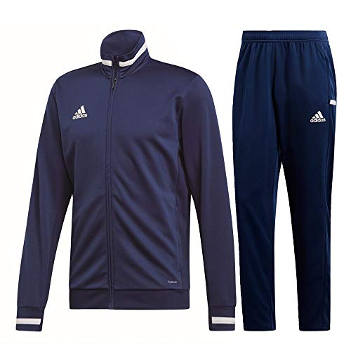 adidas Team 19 Track Trainingsanzug Herren dunkelblau weiß Gr L