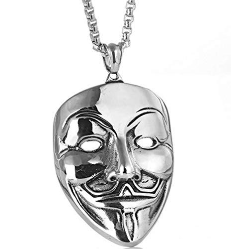 Fashion Jewery, collana con ciondolo con simbolo V come Vendetta v per Vendetta maschera design gioielli