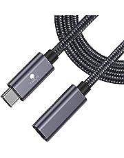 USB C förlängningskabel CONMDEX USB C hane till hona USB-kabel USB 3.1 dataladdningskabel 10 Gbps, 20 V/5 A stöd Thunderbolt 3 kompatibel med Macbook Pro, Galaxy S10, Pixel 3, Nintendo Switch 0.5M