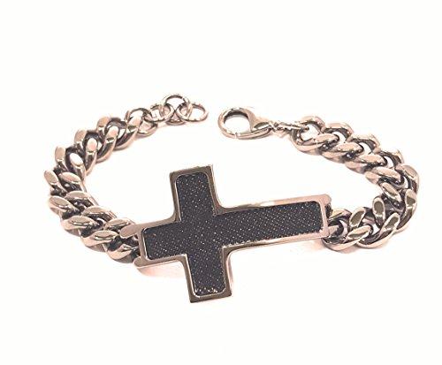 Stroili Armband halbstarr und Kette und Jeans mit Kreuzplatte