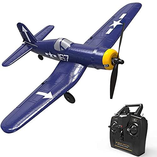 IIIL Avión Control Remoto Principiantes, Easy Control, 2.4Ghz 4CH RC Airplane con Estabilizador 6 Ejes Y Truco Un Toque, Juguetes Aire Libre para Niños Y Adultos