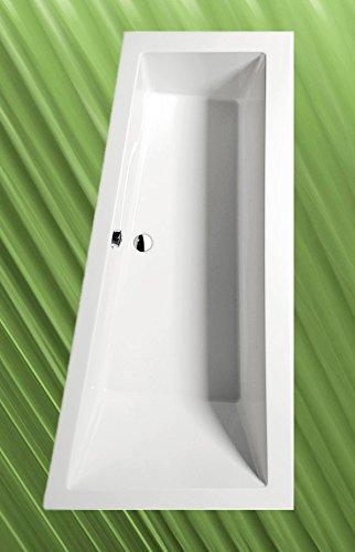 Badewanne ANDRA 170x90cm Ausführung Rechts mit Wannenträger