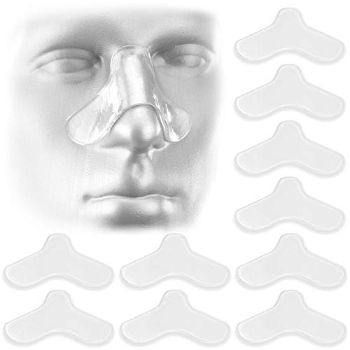 10 Pack Nasal Pads for CPAP Mask - CPAP Nose Pads - CPAP Supplies for CPAP Machine - Sleep Apnea Mask Comfort Pad - Custom Design & Can Be Trimmed to Size - CPAP Cushions for Most Masks