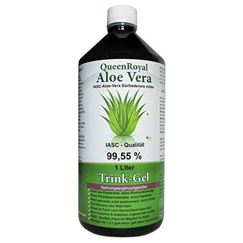 QueenRoyal Aloe Vera Trink Gel 99.55% pur 1 Liter Flasche. 30255 G