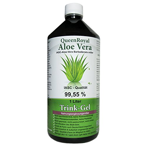 QueenRoyal Aloe Vera Trink Gel 99.55% pur 1 Liter Flasche. 30255 G
