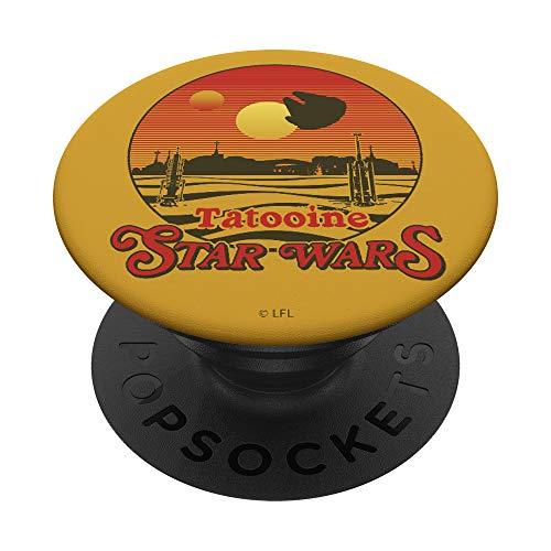 Star Wars Tatooine Millennium Falcon Getaway PopSockets PopGrip: Agarre intercambiable para Teléfonos y Tabletas