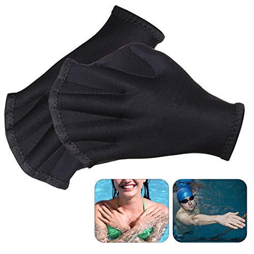 Schwimmhandschuhe, Aquatic Handschuhe, Swimpaddles, für den Oberkörperwiderstand, kein Ausbleichen, Größen für Männer Frauen Erwachsene Kinder, ideal für Wassergymnastik, Schwimmen, Aqua Zumba