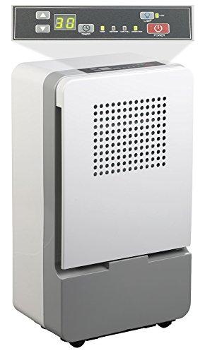 Sichler Haushaltsgeräte Bautrockner: Digitaler Luftentfeuchter mit Timer für Räume bis 25 m², 10 Liter/Tag (Luftentfeuchter elektrisch)