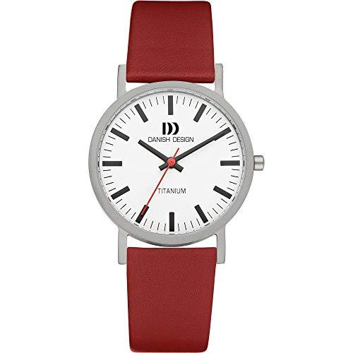 Danish Design 3316322 - Orologio da polso uomo, pelle, colore: rosso