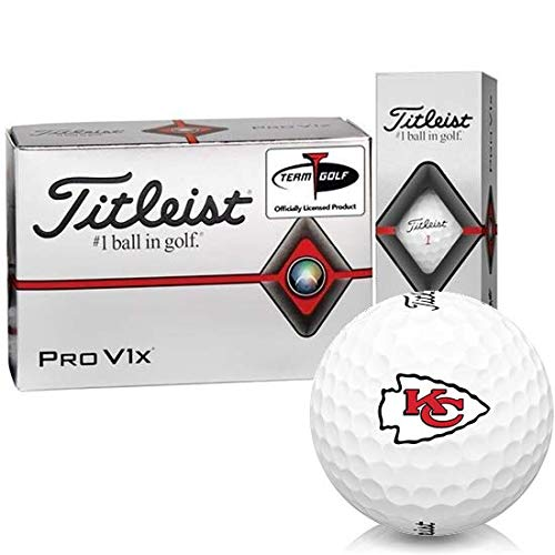 Best Price Titleist Pro V1x Half Dozen Kansas City Chiefs Golf Balls - 6 Pack