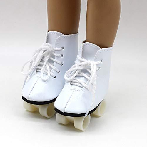 CAGO Puppen Zubehör Schuhe Rollschuhe Sportschuhe 7 cm lang, Nr. 266