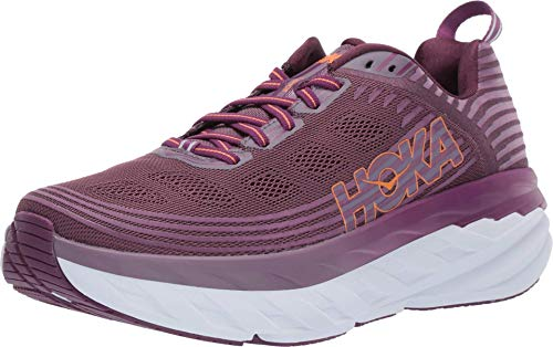 HOKA ONE ONE Womens Bondi 6 Running Shoe Arctic Dusk/Grape Juice 7.5