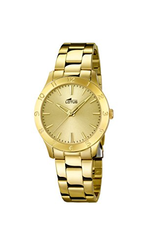 Lotus 18140/2 - Reloj de cuarzo para mujer, con correa de acero inoxidable,...
