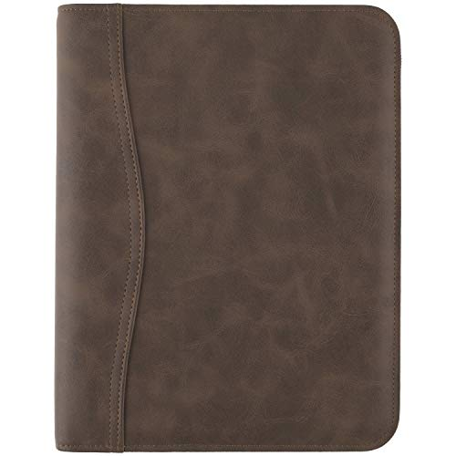 AT-A-GLANCE Simulated Leather Undated Starter Set, 43184 DAY-TIMER, Desk Size, Distressed Brown (031-0140-04), 5.5 inches X 8.5 inches