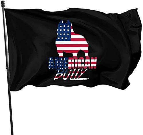Gartenfahne Zeichen Outdoor Party Indoor Banner Wasserdicht Innenhof Zaun Rasen Spaß und Roman 5 * 3FT,American Bully Logos Banner Flagge für innen/außen