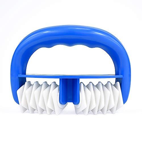 Locisne Body Roller Brush Celulitis Masajeador Mitt, uso en húmedo o en seco, gran Fascia y celulitis Blaster Deportes masaje herramienta para la liberación … (azul)