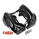 XFMT Vivid Black Lower Vented Leg Fairings Cap Glove Box Fits 1983-2013 Harley touring models FLT, FLHT, FLHTCU, FLHRC, Road King, Street Glide, Electra Glide, Ultra-Classic, Road Glide