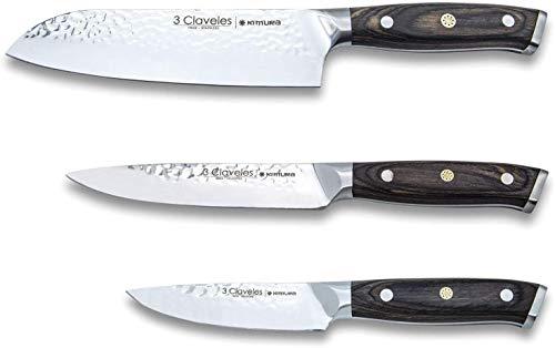 Juego de cuchillos de cocina profesional 3 Claveles Kimura C