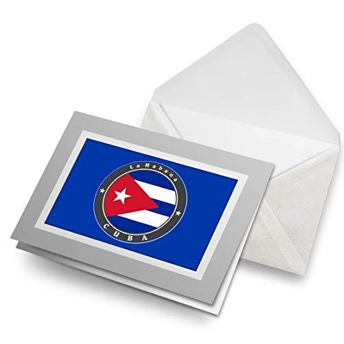 Impresionante tarjetas de felicitación gris (inserto) – Bandera de Cuba La Habana Cubana tarjeta de felicitación en blanco para cumpleaños de niños y niñas #9242
