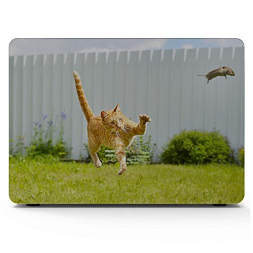 Mac Laptop Cover Funny Dancing Cat On White Floor MacBook 13 Inch Case Hard Shell Mac Air 11'/13' Pro 13'/15'/16' with Notebook Sleeve Bag for MacBook 2008-2020 Version