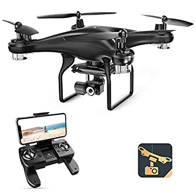 SNAPTAIN SP600N GPS Drones with Camera for Adults w/2-Axis Gimbal and 2K HD Camera, Drone for Beginners with Smart Return to Home, 5G WiFi FPV, Follow Me, Circle Fly, Tap Fly, and Gesture Mode