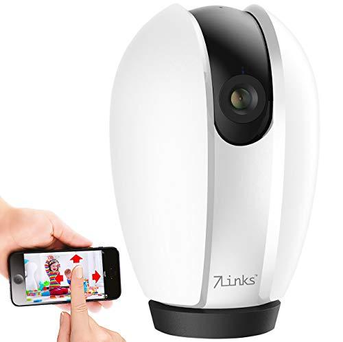 7links IP Camera: Pan-Tilt-IP-Überwachungskamera mit App, Nachtsicht & Objektverfolgung (Überwachungskamera Alexa)