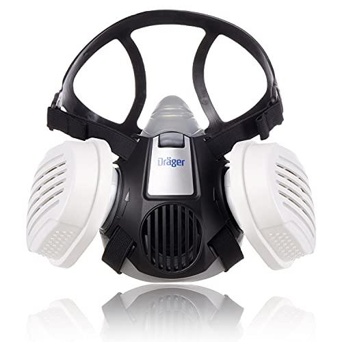 Dräger X-plore 3300 Handwerker Halbmasken-Set inkl. P3 R Partikelfilter | Größe M | gegen Fein-Staub/Partikel