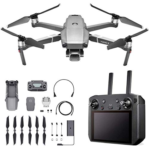 "DJI Mavic 2 Pro - Drone Quadcopter UAV with Smart Controller with Hasselblad Camera 3-Axis Gimbal HDR 4K Video Adjustable Aperture 20MP 1"" CMOS Sensor, up to 48mph, Gray (Renewed)"