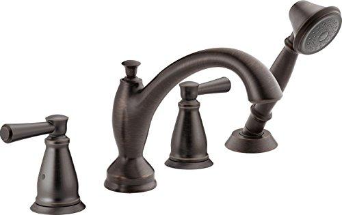 Delta Faucet T4793-RB Roman Tub with Hand Shower Trim, Venetian Bronze
