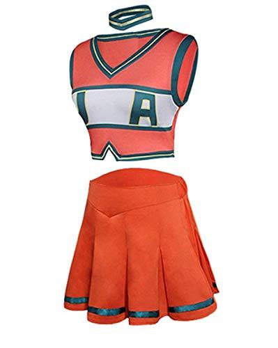 Boku No Hero Academia My Hero Academia Asui Tsuyu Cosplay Costume Donne Anime Cheerleader Uniforme Arancione Arancione M