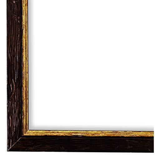 Online Galerie Bingold Bilderrahmen Braun Gold DIN A3 (29,7 x 42,0 cm) cm DINA3(29,7x42,0cm) - Shabby, Vintage, Rustikal, Landhaus - Alle Größen - handgefertigt - WRF - Vasto 1,8