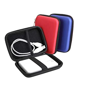 hudiemm0B Hard Disk Carry Case Bag Mini Protector Case Cover Pouch for 2.5 Inch USB External HDD Hard Disk Drive Rose Red