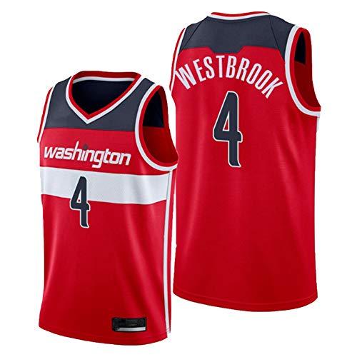 JDFA Westbrook-Jersey-No.4-Baloncesto-Men-City Edition-Swingman-Bordery-Uniform Red-M