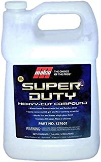 Malco Super Duty Heavy Cut Compound, Professional Cutting, Polishing and Finishing Compound for Auto Paint Correction, Detailing and Buffing,1 gallon (127601)