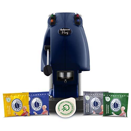 Didiesse Frog Revolution Magica Emozione pack (Macchina da Caffè a Cialde + 60 capsule), 650 W, Blu