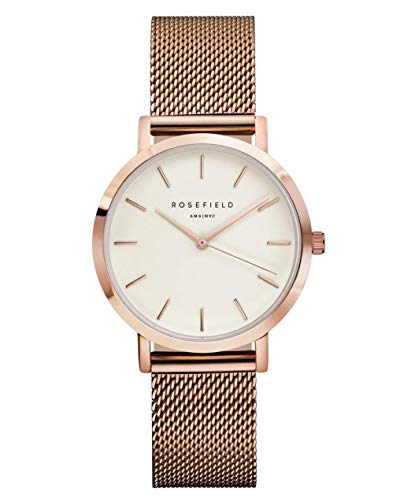 Rosefield Women's Year-Round Quartz Watch with Stainless Steel Strap, Rose Gold, 16 (Model: TWRT50)