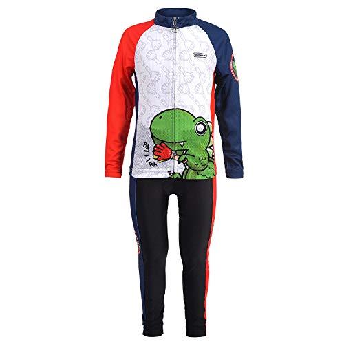 NUCKILY - Radsport-Anzüge für Jungen in QC004 Weiß, Größe M = Höhe / 105-115 cm